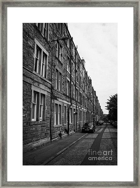 Tenement Houses Now Apartments In Edinburgh Scotland Framed Print