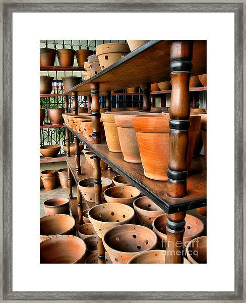 Terracotta Ranks Framed Print