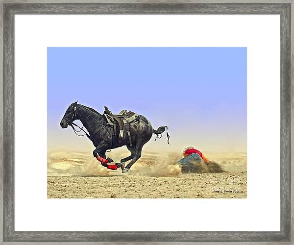 Texas Tumble Framed Print