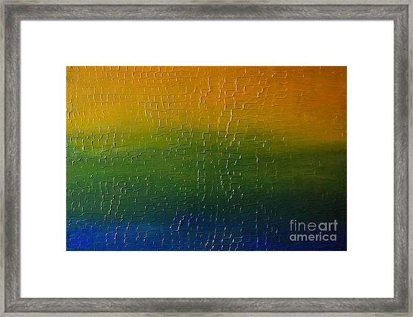 Textured Colors Framed Print