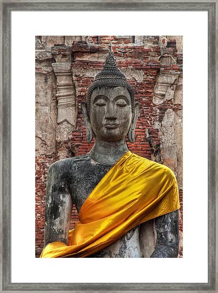 Thai Buddha Framed Print