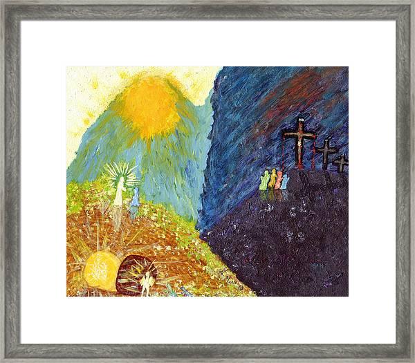 Thank God For Good Friday And Easter Sunday Framed Print
