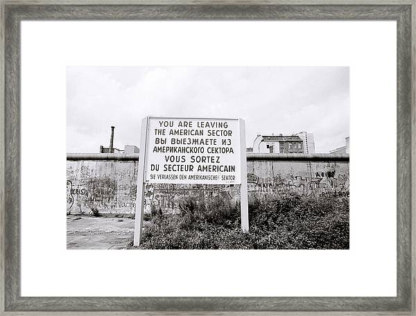 Berlin Wall American Sector Framed Print