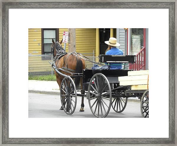 The Amish Way Framed Print