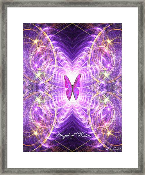 The Angel Of Wishes Framed Print