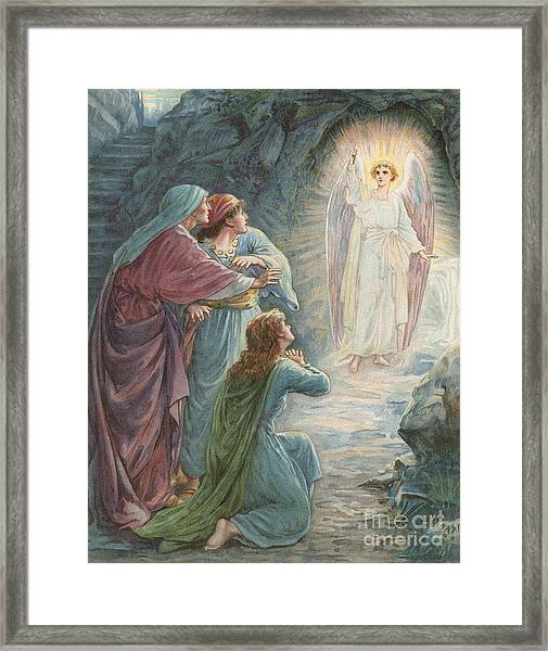 The Appearance Of The Angel Framed Print