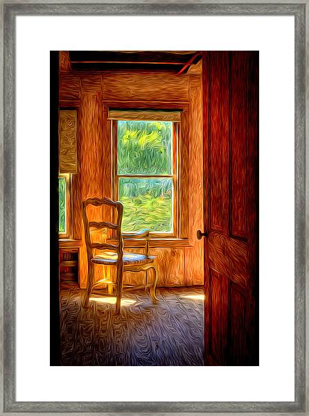 Framed Print featuring the photograph The Attic View by Williams-Cairns Photography LLC