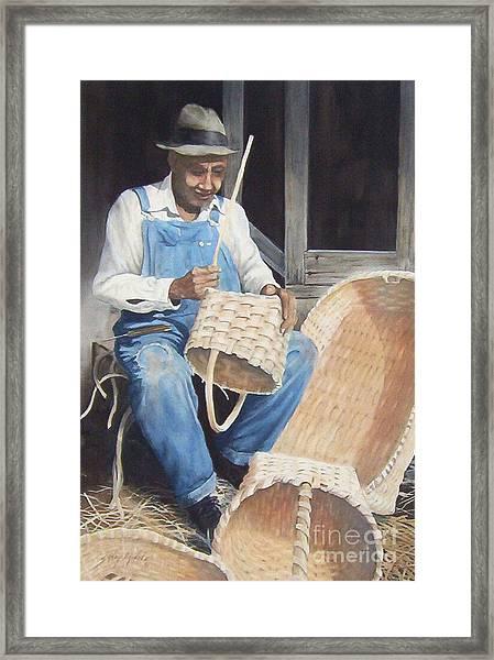 The Basket Maker ...sold  Framed Print