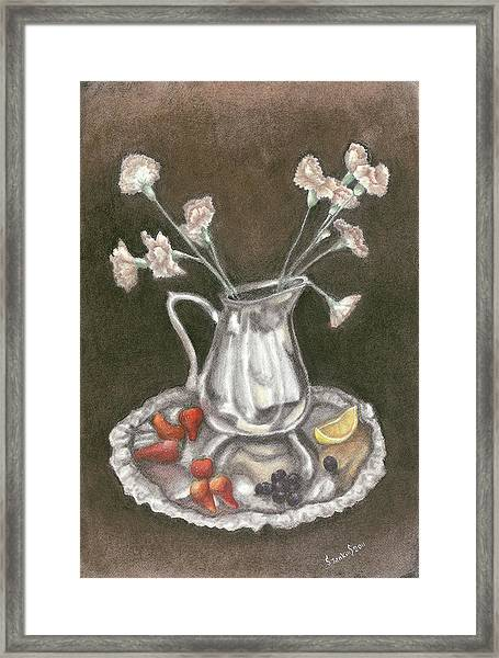 The Bent Flower Framed Print