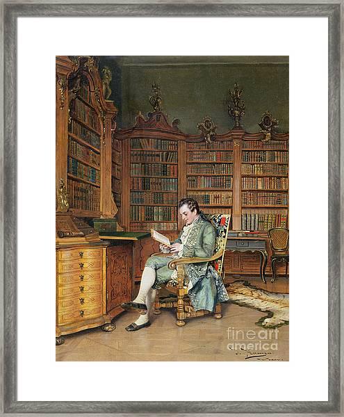 The Bibliophile Framed Print