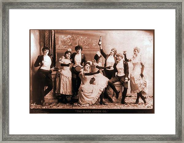 The Black Crook Company, Portraying Framed Print