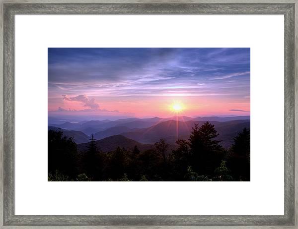 The Blue Ridge Framed Print