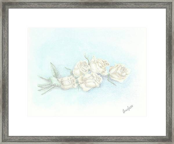 The Bridal Bouquet Framed Print