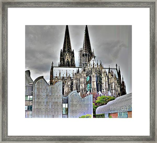 The Cathedral In Cologne On The Rhine Framed Print