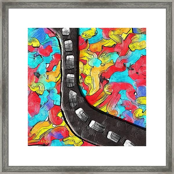 The Color Highway Framed Print