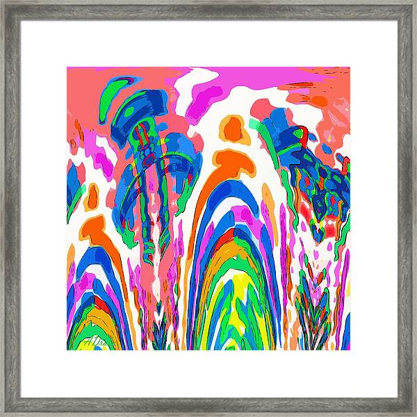 The Colors Fountain Framed Print