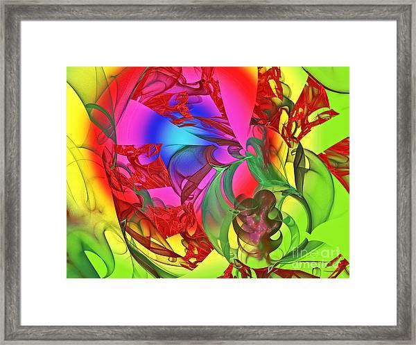 The Dancing Rainbow Framed Print