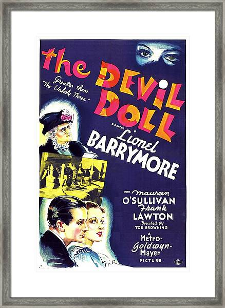 The Devil Doll, Left From Top Lionel Framed Print