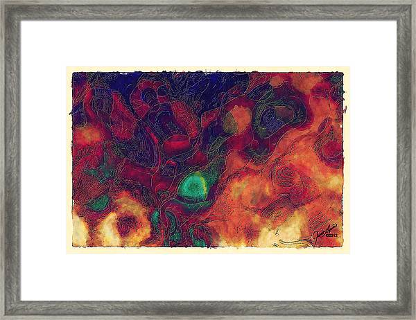 The Discussion Framed Print