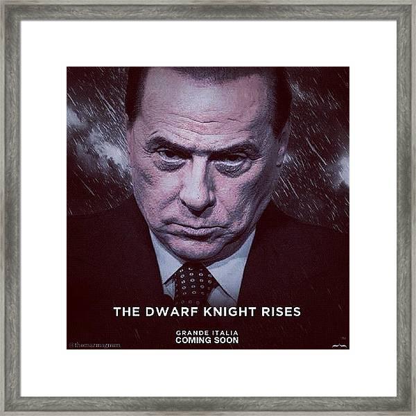 The Dwarf Knight Framed Print