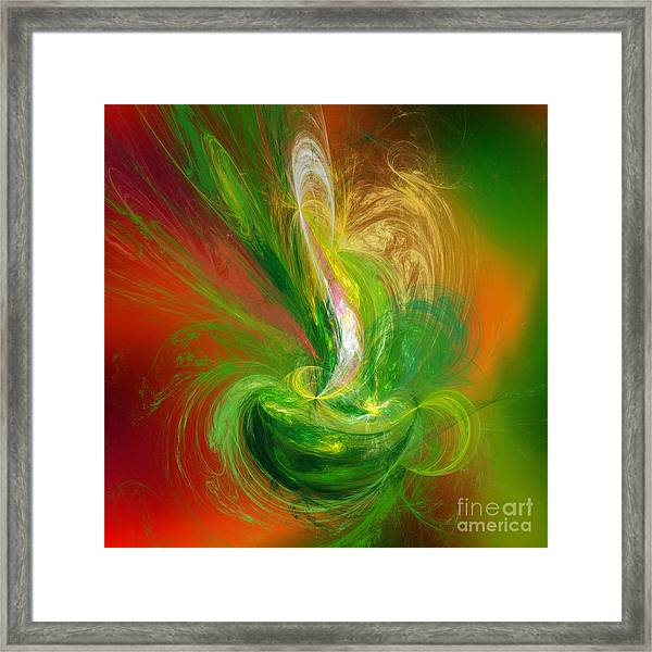 The Feathering Teacup Framed Print