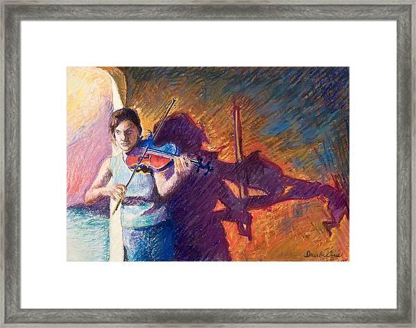 The Fiddler From Julliard Framed Print
