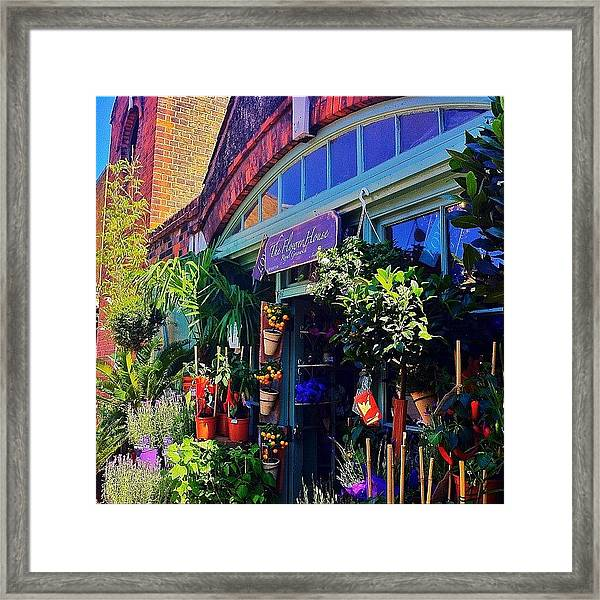 The Flower House Framed Print