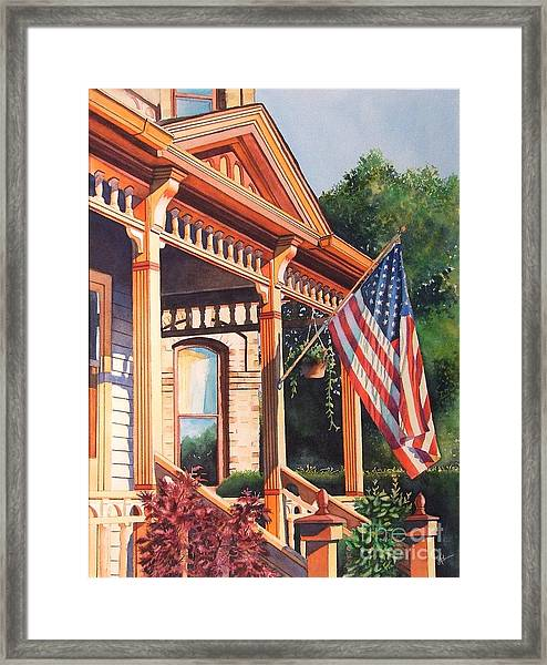 The Founders Home Framed Print