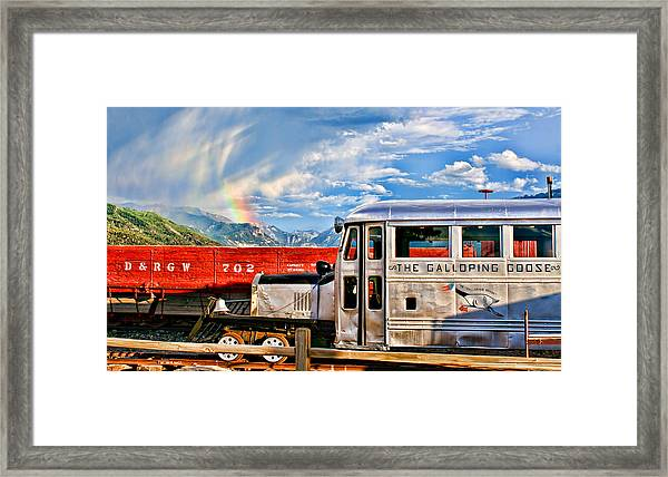 The Galloping Goose Framed Print