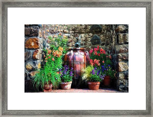 The Garden Cistern Framed Print