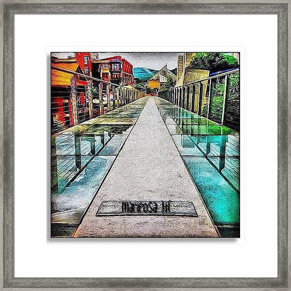 The Glass Bridge Framed Print