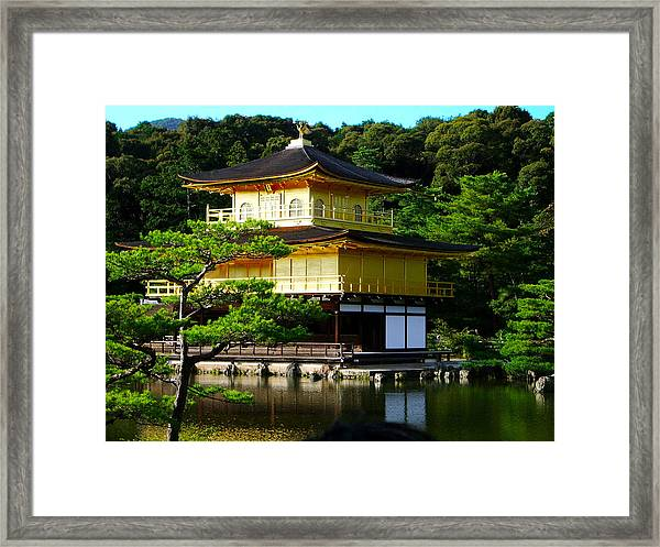 The Golden Temple In Kyoto Framed Print