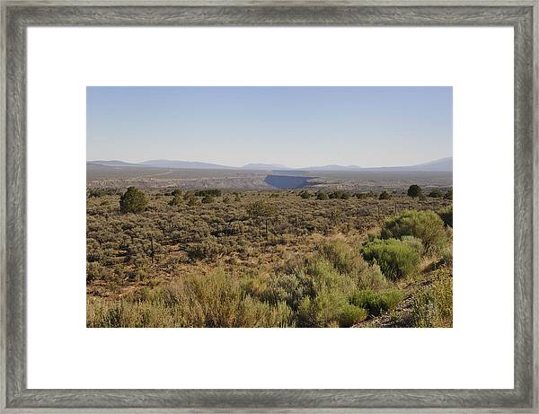 The Gorge On The Mesa Framed Print