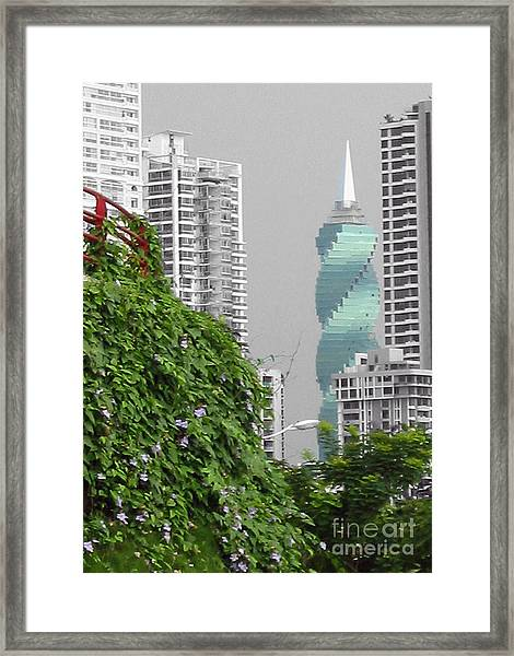 The Green Season In Panama Framed Print