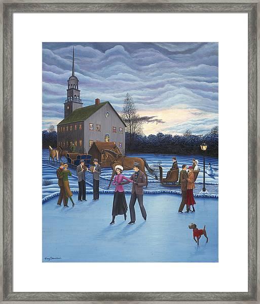 The Ice Skaters Framed Print