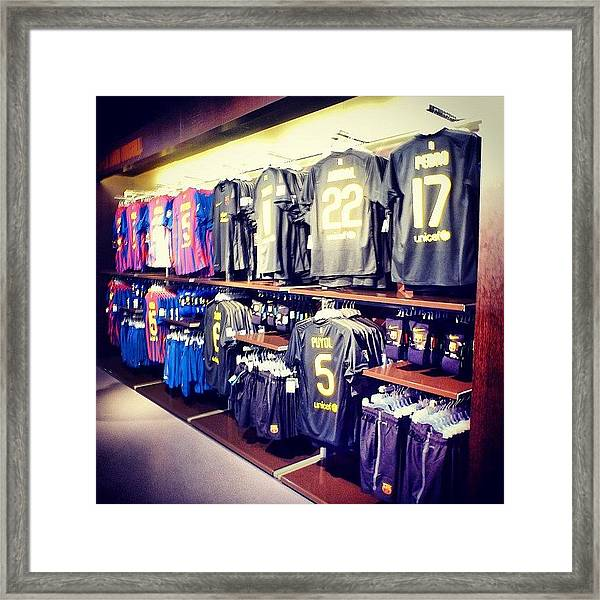 The Jersey #travel #sport #fcbotiga Framed Print