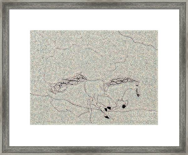 The Jumping Horse Framed Print