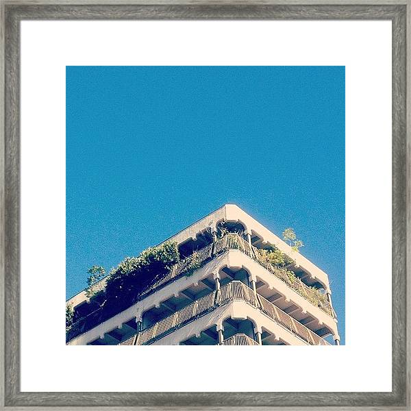 The Laputa Building Framed Print