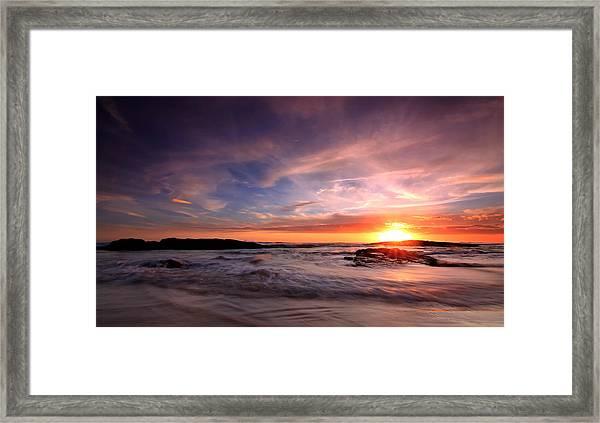 The Last Rays Framed Print