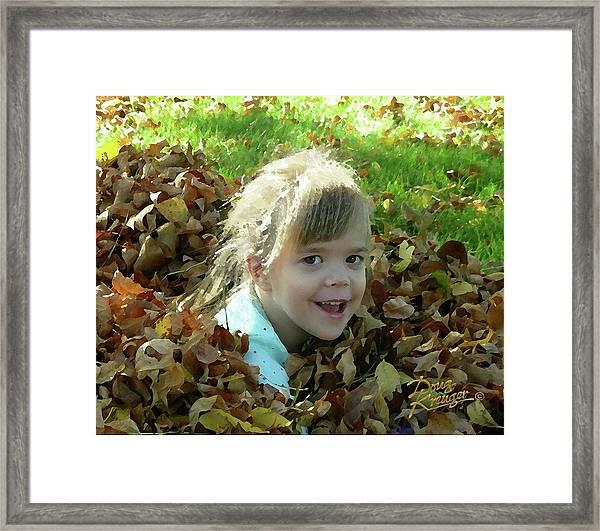 The Leaf Pile Framed Print