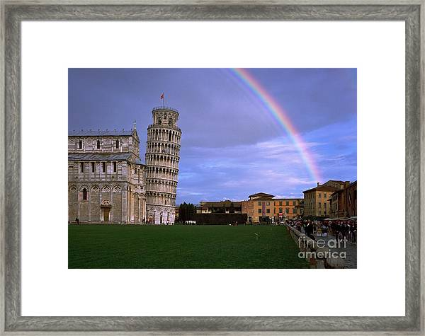 The Leaning Tower Of Pisa Framed Print by Serge Fourletoff