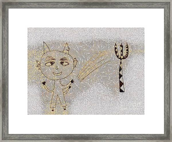 The Little Devil Framed Print