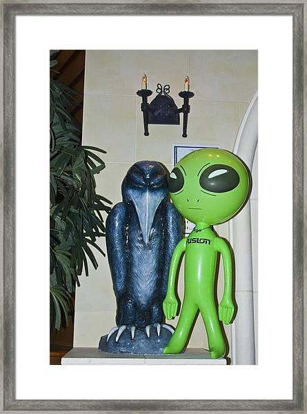 The Maltese Alien Framed Print