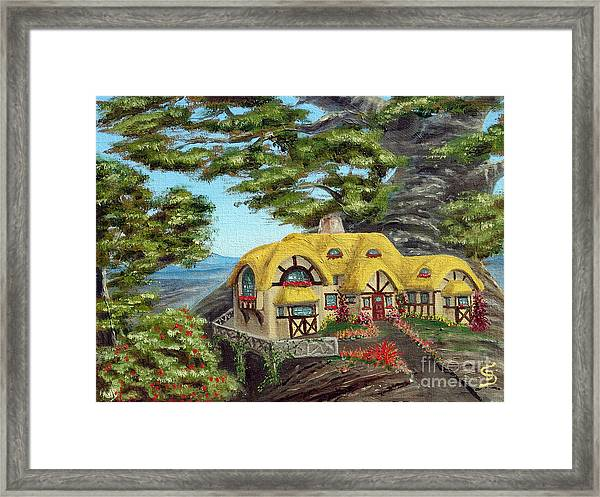 The Manor Cottage From Arboregal Framed Print