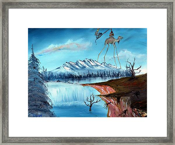 The March Of The Camel Over Desolate Lands Framed Print
