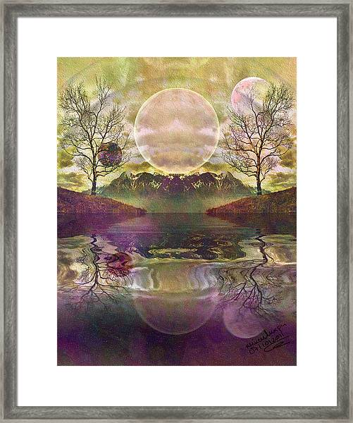 The Mystery Of Dawn Framed Print