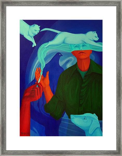 The Nicotine. Framed Print