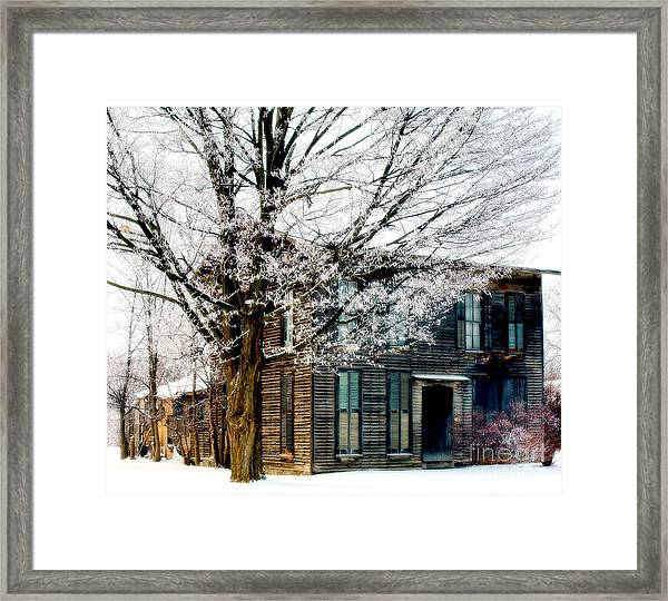 The Old Frost House Framed Print