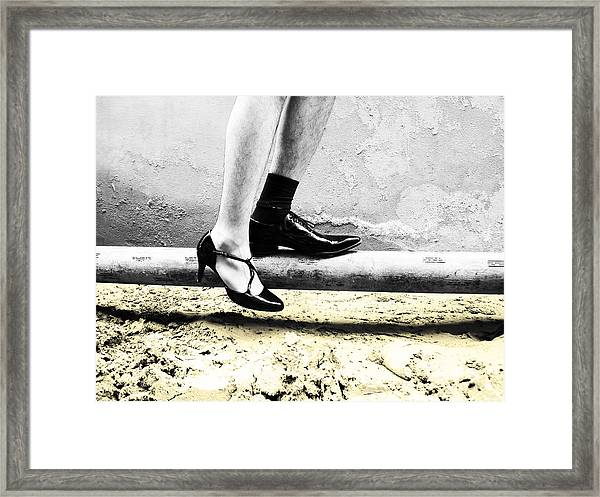 The Other Shoe Framed Print