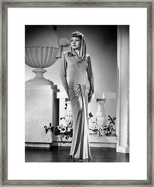 The Palm Beach Story, Claudette Framed Print by Everett
